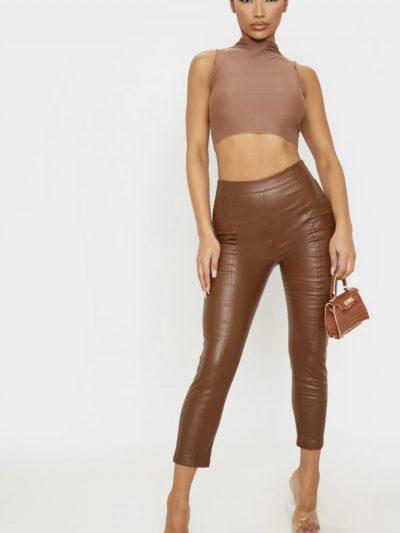 Pantaloni din piele PLT | S
